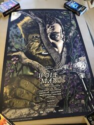 Anthony Petrie The Wolfman Screen Print Movie Poster Universal Monsters