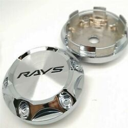 4 Pcs Ray Volk Style 68mm/62mm Japan Ce28n Ze40 Silver Racing Wheel Center Caps