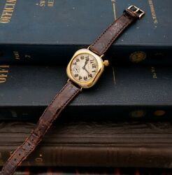 Rare 1917 Wwi Elgin Trench Watch Admiral Benson Gold Filled Case Serviced