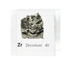 Zirconium Gas 50mm Lucite Acrylic Cube For Element Collection Usa Shipping