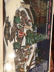 New All Around The Park Village Animated Accessory Set Christmas Department 56