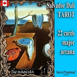 Salvador Dali Art Tarot Card Cards Deck Tell Fortune Telling Rare Vintage Oracle