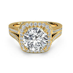 Real 0.90 Ct Stunning Diamond Engagement Ring Solid 14k Yellow Gold Size M N O