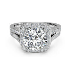 Real 0.90 Ct Round Diamond Ladies Engagement Ring 14k Solid White Gold Size M N