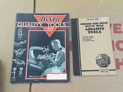 1935 And 1939 Delta Tool Catalogs Motor Driven And Abrasive Tools Book