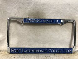 Vintage Fort Lauderdale Collection License Plate Frame Pompano Beach Florida
