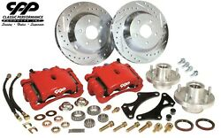 Cpp Mustang Ii 2 Ifs 13 Big Brake Disc Kit For Modular Stock Spindles Red
