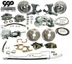 67-70 Chevy C10 Truck 12 Front 11 Rear Brake Kit Stock Spindle 5x5 Showstopper