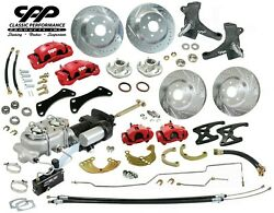 63 66 Chevy C10 Truck Front And Rear Big Brake Kit Modular Drop Spindles 6x5.5