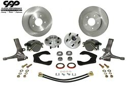 Mustang Ii Ifs Complete Modular Stock Spindle Disc Brake Kit 5 X 4.5 Ford Lug