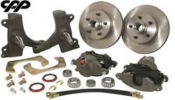 73-87 Chevy C10 Gmc Truck 5 Lug 12 Disc Brake Kit With 2.5 Drop Spindles