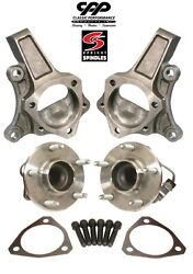 1964-72 Chevy Chevelle C5 Hub Corvette Disc Brake Stock Spindle Spindles + Hubs