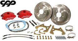 1967 67 Chevy Camaro Rs Ss Z/28 Red Wilwood D52 Rear Disc Brake Conversion Kit