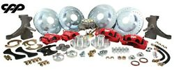 73-87 Chevy C10 Truck 13 Front And 12 Rear Big Brake Kit W/ Drop Spindles 5x5