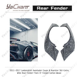Cf Forged For 11-17 Aventador Coupeandroarster Svj-extra Wide Rear Fender Flare