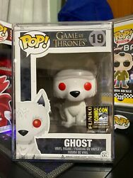 Funko Pop Game Of Thrones Ghost Flocked 19 Sdcc 2014 Rare