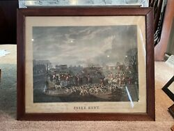 Wolstenholme,d Colored Etching Date May 1831 Fox Hunting The Essex Hunt London
