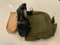 1965 Vietnam War Mask Medium Early Bag And Lens Set With Chemical Hood