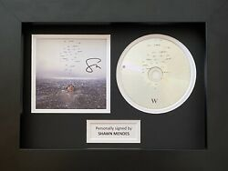 Shawn Mendes Genuine Hand Signed Wonder Cd Cover In A4 Frame Display 1
