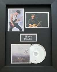 Shawn Mendes Genuine Hand Signed Wonder Cd Cover In A3 Frame Display