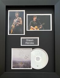 Shawn Mendes Genuine Hand Signed Wonder Cd Cover In A3 Frame Display 2