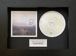 Shawn Mendes Genuine Hand Signed Wonder Cd Cover In A4 Frame Display 4
