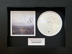 Shawn Mendes Genuine Hand Signed Wonder Cd Cover In A4 Frame Display 5