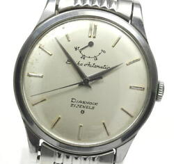 Seiko Diashock Antique Power Reserve Silver Dial Automatic Menand039s Watch_579677