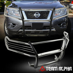 Fit 2013-2016 Nissan Pathfinder Chrome Stainless Steel Bumper Grille/brush Guard