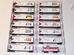 N Scale Micro Trains Complete Set Of Canadian Provincial And Territory Cars