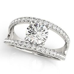 Solid 950 Platinum Ring 0.90 Ct Natural Round Diamond Engagement Rings Size 6 7