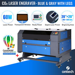 Omtech 60w 28x20in Bed Co2 Laser Engraver Cutter With Coreldraw For Windows