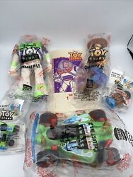 Burger King Kids Club Meal Toy Story - Lot Of 5 Toys And One Bag - New