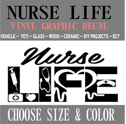N1 Nurse Life Medical Vinyl Graphic Decal Sticker Truck Car Yeti Diy Free Ship