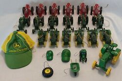 Lot Of 25 John Deere Tractors And Accessories Christmas Ornaments W/strings