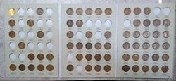 65 Coin 1909 - 1940 Lincoln Wheat Cent Album - Early Dates Collection 502