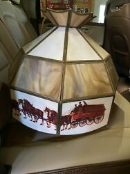 7 Very Rare Budweiser Clydesdale Style Lamps