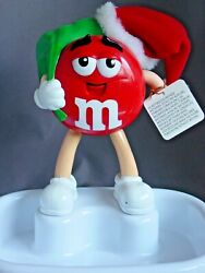 M And Mand039s Christmas Talking Animated Candy Dish--brand New 1999-never Used