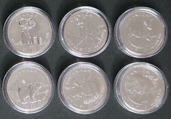 Canada • 2011-2013 • 5 • Wildlife Series • Set Of Six 1 Oz Silver Coins