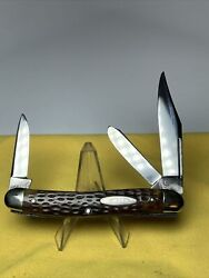 Case Tested 6347 Greenbone Stockman Knife Mint 1920 All 3 Blades Marked