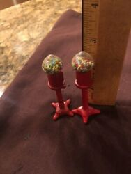 Miniature Bubble Gum Machines, Metal Approx.3 Inches Tall