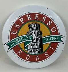 Vintage Starbucks Espresso Roast Coffee Stamp Table Top Sign Wall Hanging 20andrdquo