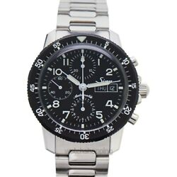 Sinn Instrument Chronographs 103.035-solid-2lss Black Dial Menand039s Watch
