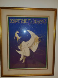 Mardi Gras 1982 Rare Sexy Pin Up Silk Screen - Signed Numbered
