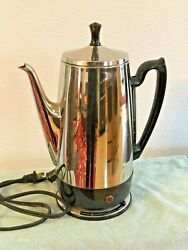 Vintage Ge General Electric 4-10 Cup Coffee Pot Automatic Percolator A1ssp10