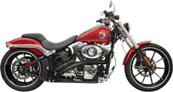 Exhaust System Radial Sweepers Black Slotted - Harley Davidson Softail Dyna A...