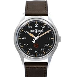 Bell And Ross Vintage Brv192-mil-st/sca Black Dial Menand039s Watch Genuine Freesandh