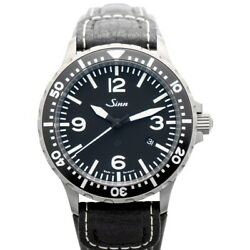 Sinn Instrument Watches 857.012-leather-cowhide-blk Black Dial Menand039s Watch