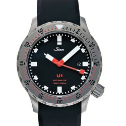 Sinn Diving Watches 1010.010-silicone-fc-blk Black Dial Menand039s Watch Genuine