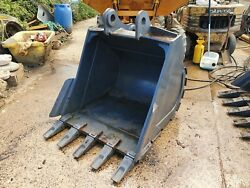 New 1200mm Excavator Digging Bucket Suit 20 Ton 80mm Pin 325mm X 460mm Andpound1500+vat